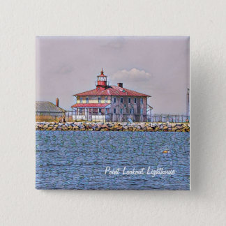 Point Lookout Lighthouse Magnet 15 Cm Square Badge
