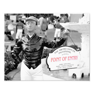 Point of Entry Champion Turf Horse Photographic Print