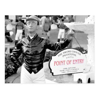 Point of Entry Lawn Jockey Postcard
