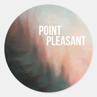 Point Pleasant Classic Round Sticker