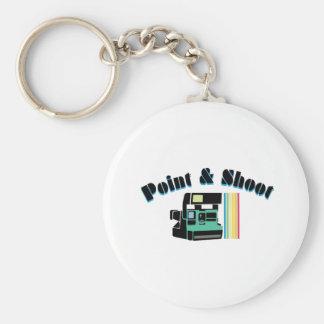 Point & Shoot Basic Round Button Keychain