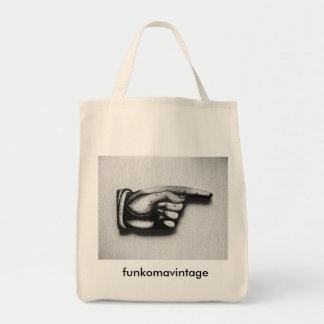 Point the way to groceries tote bag