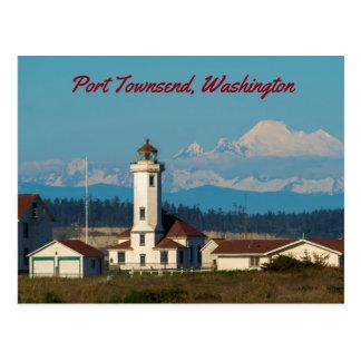 Point Wilson Light - Port Townsend, Washington Postcard