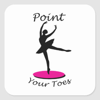 Point your Toes Square Sticker