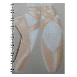 Pointe Ballet Feet Notebook