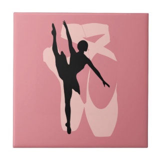 Pointe Ballet Small Square Tile