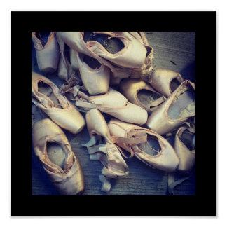 """Pointe shoe poster 12"""" x 12"""""""