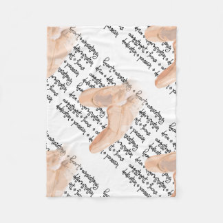 Pointe Shoes Ballet Fleece Blanket