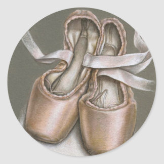 Pointe shoes classic round sticker