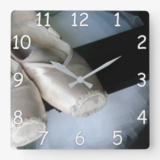 Pointe Show & Tutu Wall Clock for Ballet Dancers