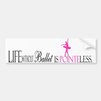 Pointeless Ballet Bumper Sticker