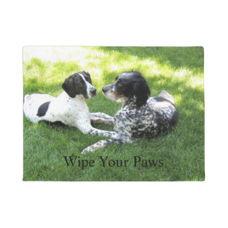 Pointer and Setter Love Doormat