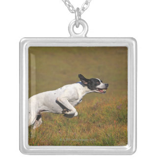 Pointer. Canis lupus familiaris Silver Plated Necklace