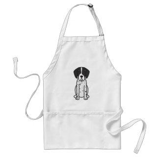 Pointer Dog Cartoon Standard Apron