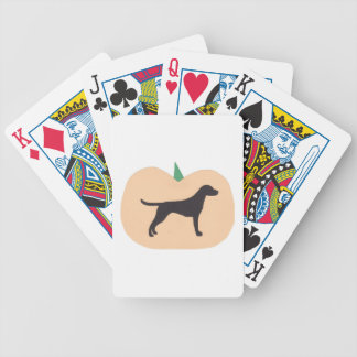 Pointer Dog Halloween Playing Cards