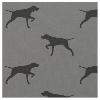 Pointer Dog Silhouettes Pattern Fabric