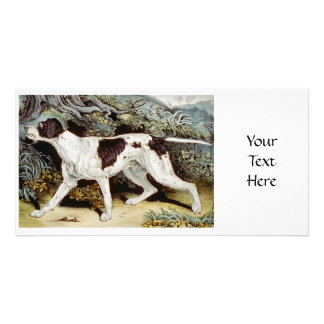 Pointer Dog Water color Photo Card Template