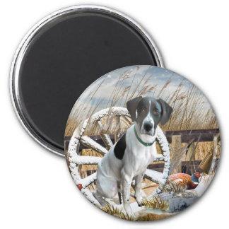 Pointer No Hunting 6 Cm Round Magnet