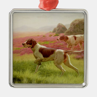 Pointers in a Landscape, 19th century Christmas Ornament