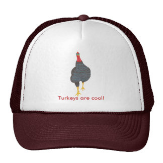 Pointillism Turkey Strut, Turkeys are cool, hats