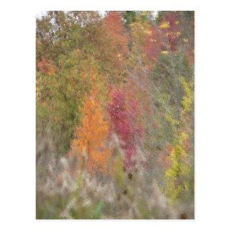Pointillist s Autumn Postcard