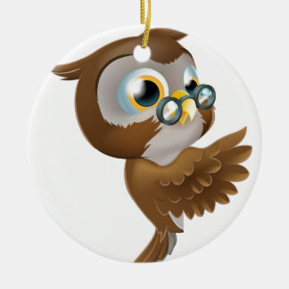 Pointing Cute Owl Ornaments