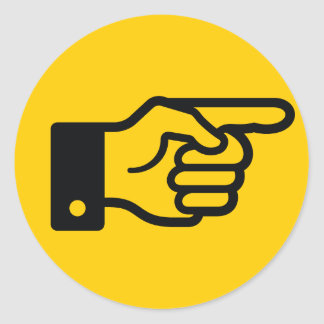 Pointing Finger (Yellow) Sticker