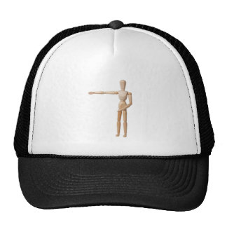 Pointing Left Mesh Hat