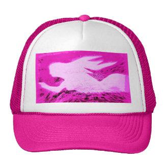 pointing pink mermaid trucker hat