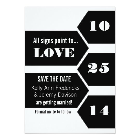 Pointing Towards Love Save the Date Announcement