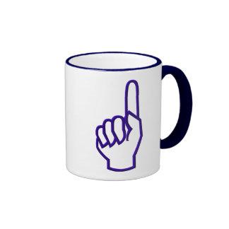 Pointing up finger hand mug