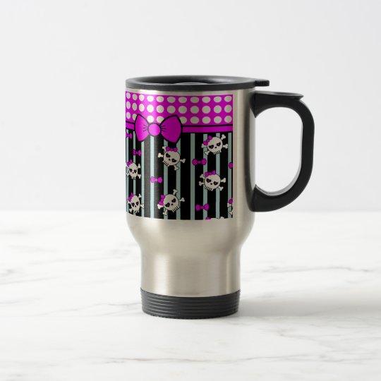Points and skulls, samples travel mug