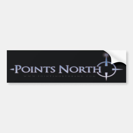 Points North Logo Bumper Sticker