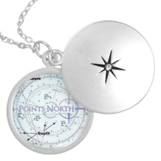 Points North SF Nautical Map Locket