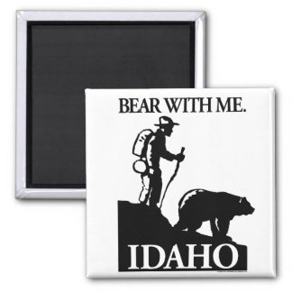 Points North Studio 'Bear With Me' Idaho Square Magnet