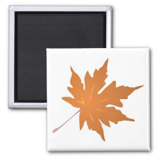 Pointy Brown Maple Leaf Magnet