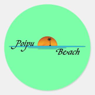 Poipu Beach Sunset Sticker