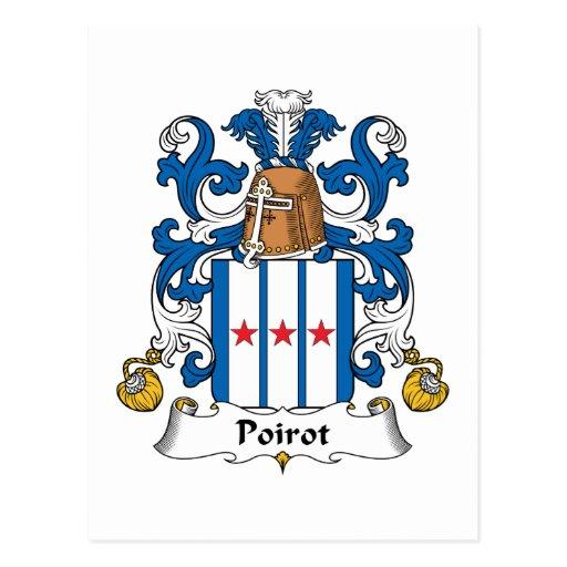 Poirot Family Crest Postcards
