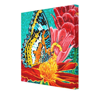 Poised Butterfly I Canvas Print