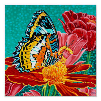 Poised Butterfly I Poster