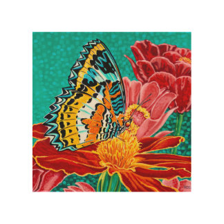 Poised Butterfly I Wood Prints