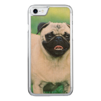 Poised Pug Carved iPhone 8/7 Case
