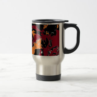 Poison Apple Abstract Stainless Steel Travel Mug