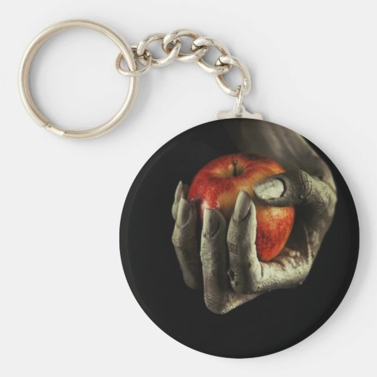 POISON APPLE BASIC ROUND BUTTON KEY RING
