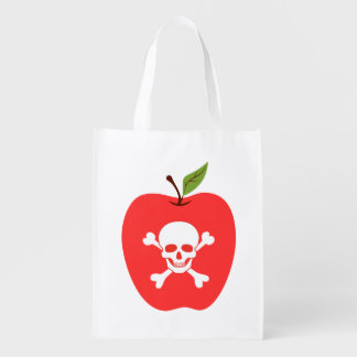 Poison apple reusable grocery bag