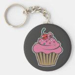 Poison Cherry Cupcake Keychain