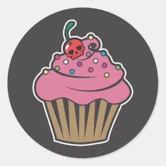 Poison Cherry Cupcake Round Sticker