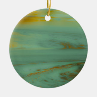Poison Creek, Wyoming Abstract Photography Design Round Ceramic Decoration