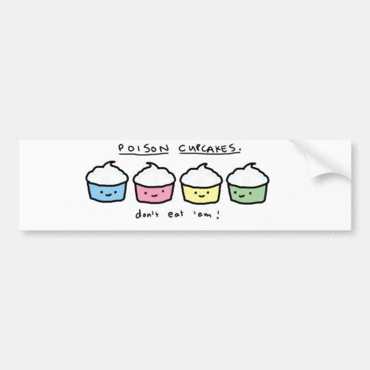 poison-cupcakes bumper sticker