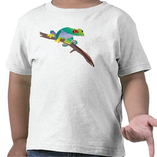 Poison Dart Frog on a Stick Tee Shirts
